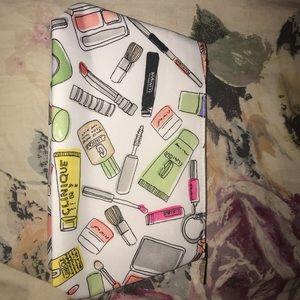 Clinique Bags - clinique white cosmetic bag